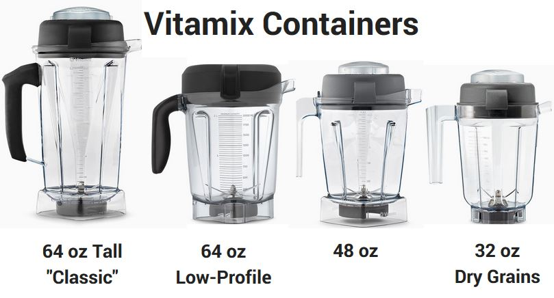 compare vitamix containers
