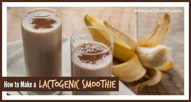 how to make a lactation smoothie