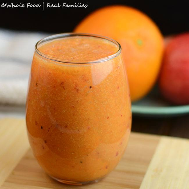 Orange Carrot Immune smoothie