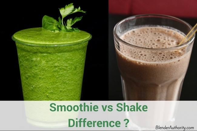 Smoothie vs Shake Difference