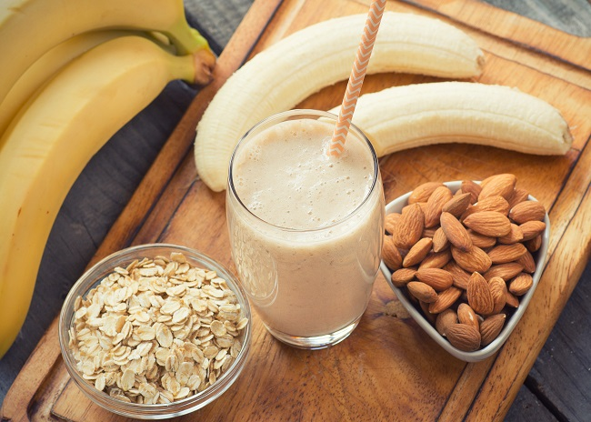 Banana Almond Smoothie for Constipation