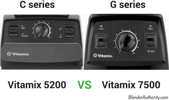 Vitamix 7500 controls G series vs C series