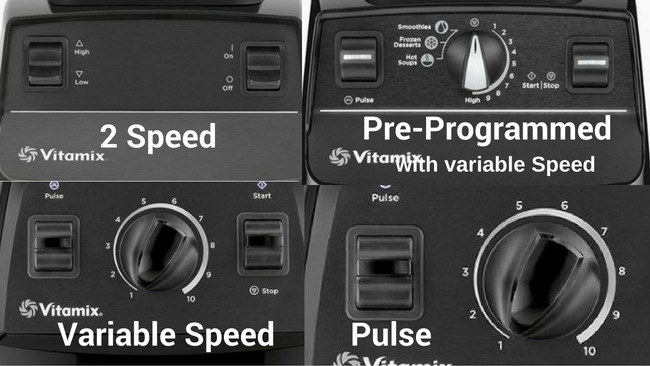 Compare vitamix controls