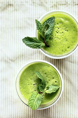 Mint Green Tea Smoothie recipe