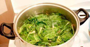 Blanch Spinach