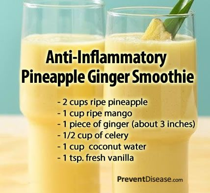 Pineapple Ginger Pain Reducing smoothie