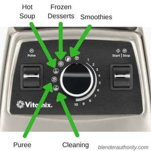 Vitamix 750 Controls