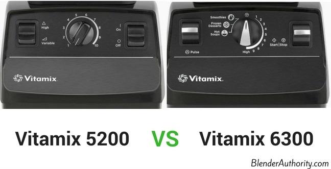 Vitamix 6300 controls