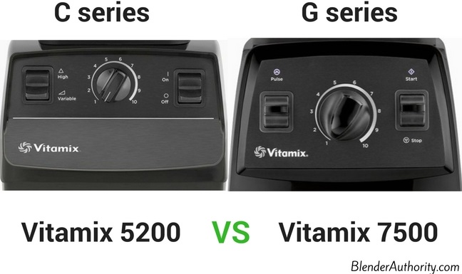 Vitamix 7500 controls G series vs C series