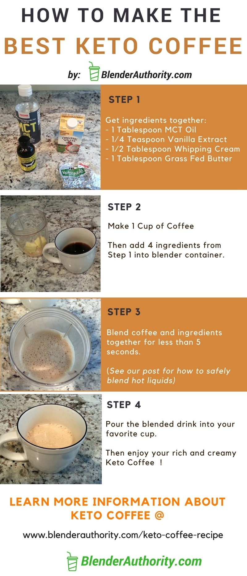 Best Keto Coffee Recipe - Step by Step How to Make Keto Coffee