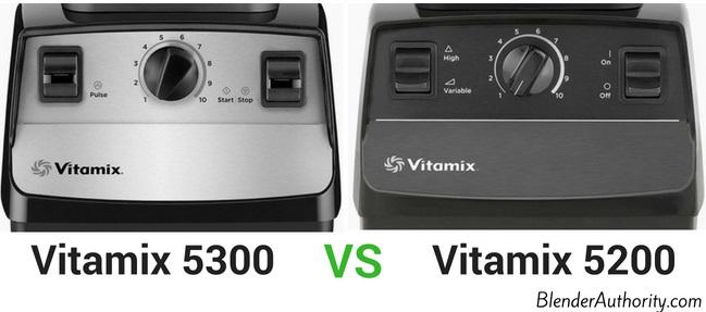 Vitamix 5300 vs Vitamix 5200 controls