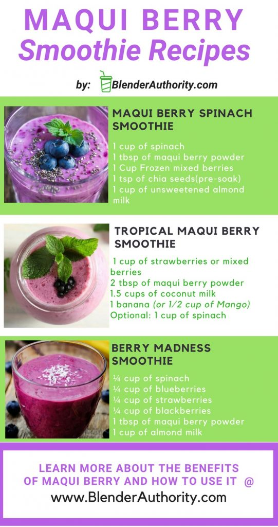 Maqui Smoothie recipes