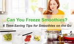 Can You Freeze Smoothies, 6 Time-Saving Tips for Smoothies on the Go