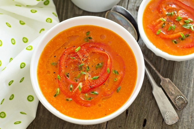Vitamix Roasted red pepper tomato soup