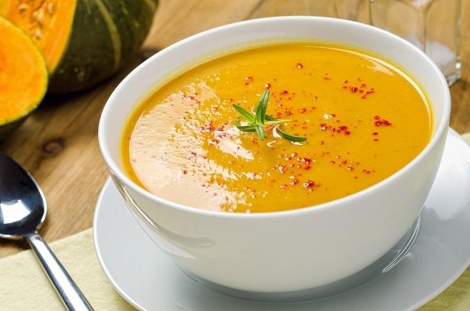 Vitamix acorn squash soup with Paprika