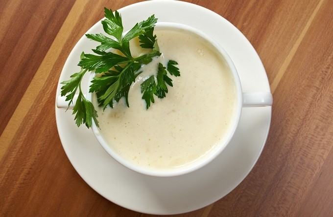 Vitamix creamy cauliflower soup