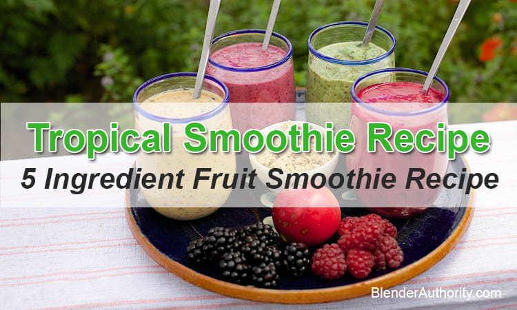 5 Ingredient Fruit Smoothie Recipe