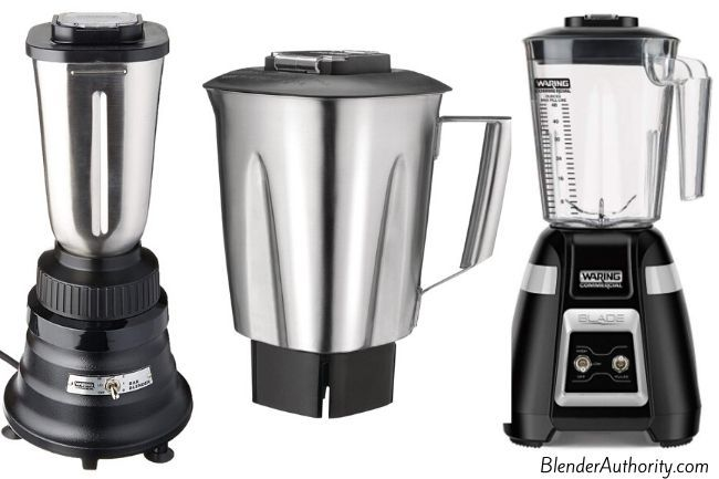 Blenders with stainless steel containers