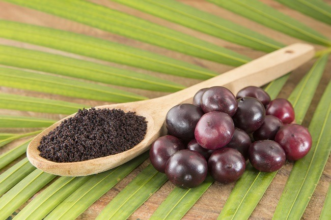 Acai Berry raw form and in powder form
