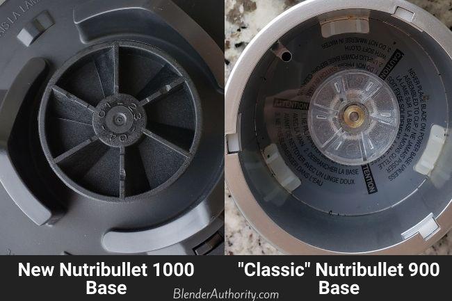 Nutribullet Pro 1000 versus Nutribullet 900 Pro Motor Base